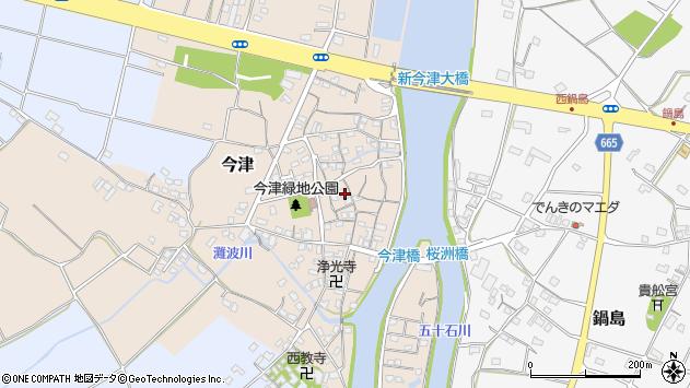 大分県中津市今津173周辺の地図