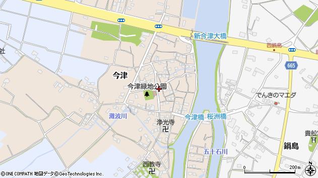 大分県中津市今津156周辺の地図
