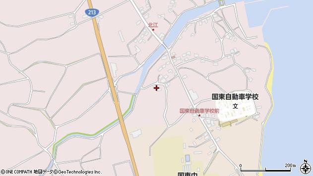 大分県国東市国東町北江4038周辺の地図