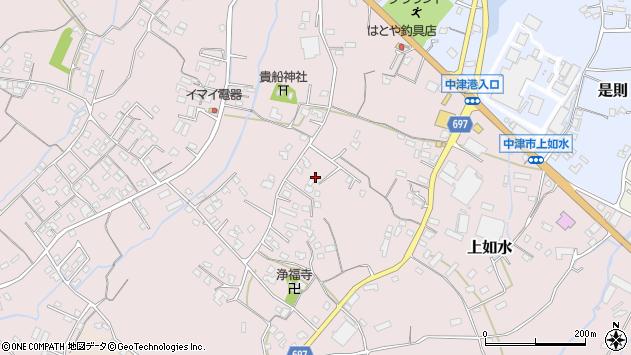 大分県中津市上如水1180周辺の地図