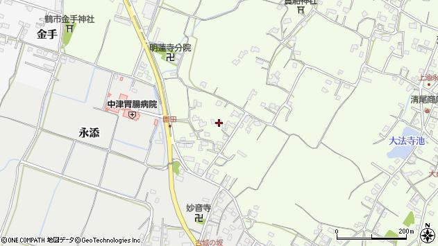 大分県中津市上池永698周辺の地図