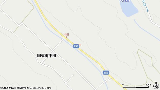 大分県国東市国東町中田2497周辺の地図