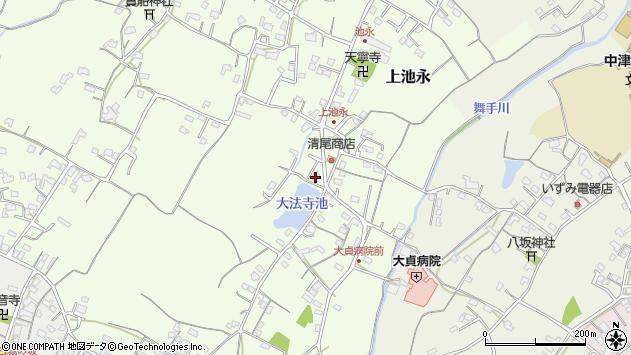 大分県中津市上池永451周辺の地図
