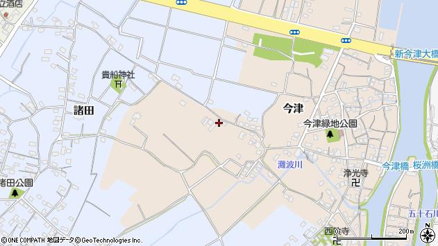 大分県中津市今津340周辺の地図