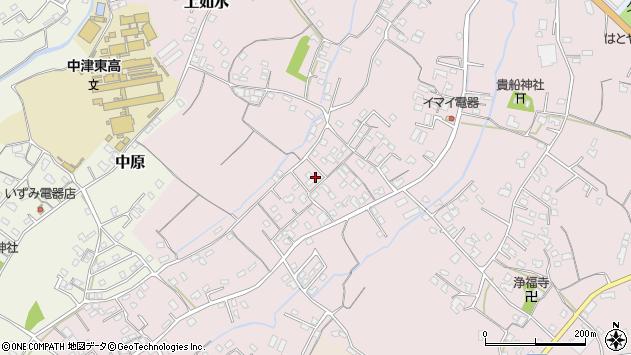 大分県中津市上如水524周辺の地図