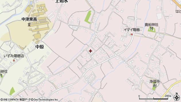大分県中津市上如水523周辺の地図