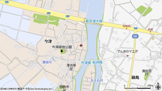 大分県中津市今津188周辺の地図