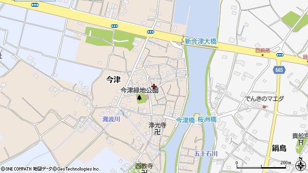 大分県中津市今津155周辺の地図