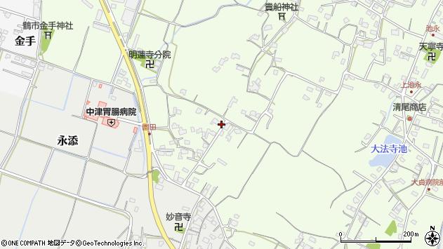 大分県中津市上池永682周辺の地図