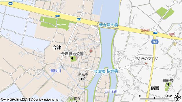 大分県中津市今津190周辺の地図