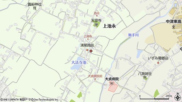 大分県中津市上池永198周辺の地図