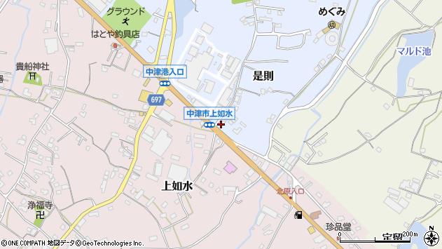 大分県中津市是則1152周辺の地図