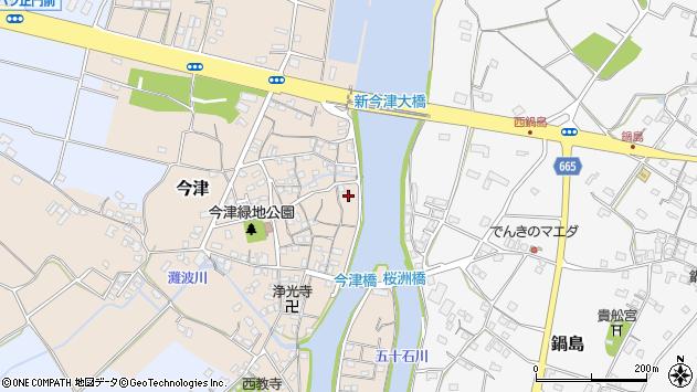 大分県中津市今津255周辺の地図