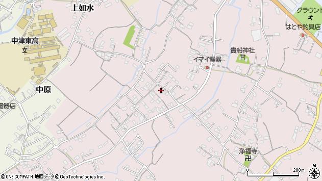 大分県中津市上如水535周辺の地図
