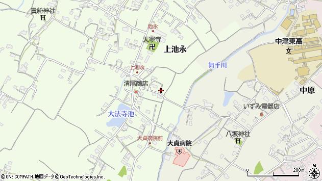 大分県中津市上池永207周辺の地図