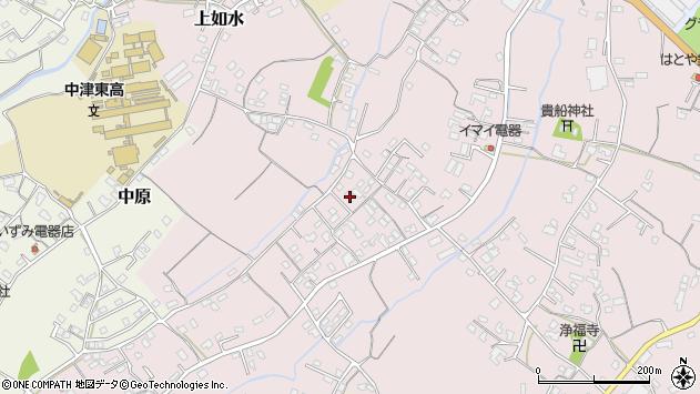 大分県中津市上如水520周辺の地図
