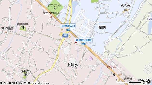 大分県中津市上如水1327周辺の地図