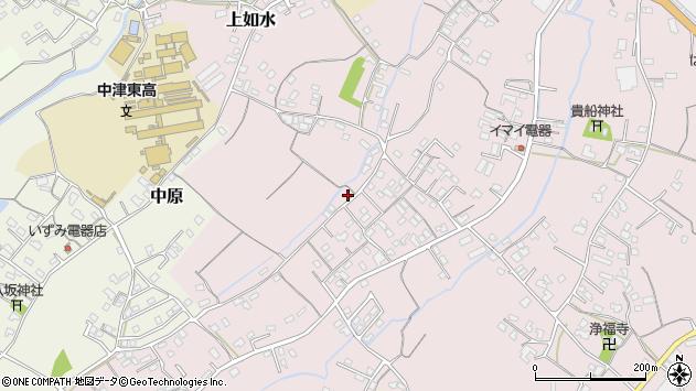 大分県中津市上如水328周辺の地図