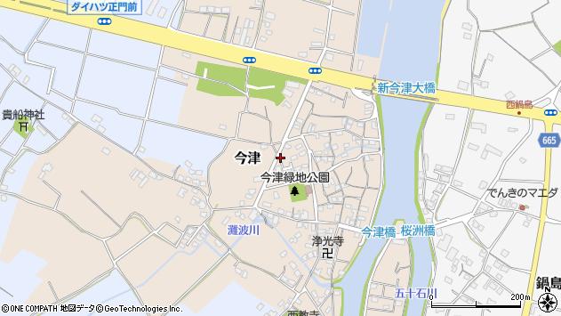 大分県中津市今津666周辺の地図