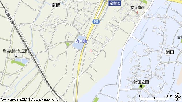 大分県中津市定留172周辺の地図