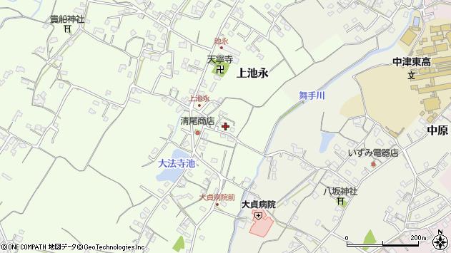 大分県中津市上池永208周辺の地図