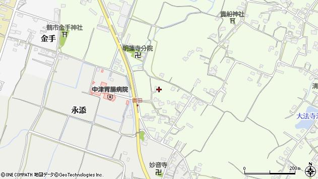 大分県中津市上池永688周辺の地図