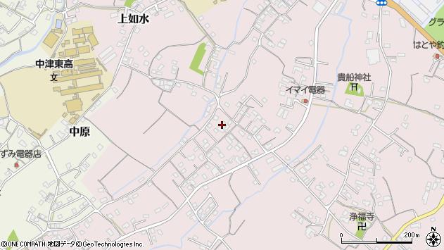 大分県中津市上如水517周辺の地図