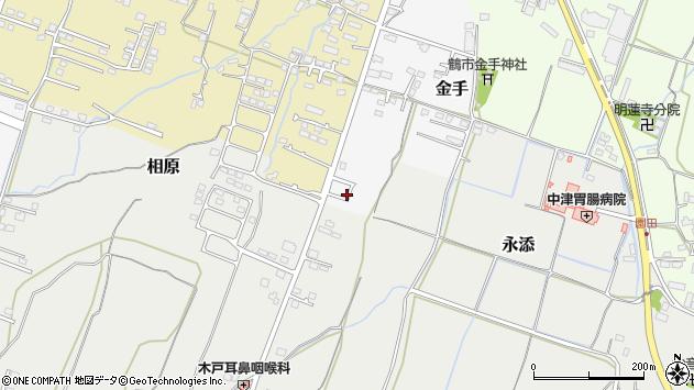 大分県中津市金手160周辺の地図