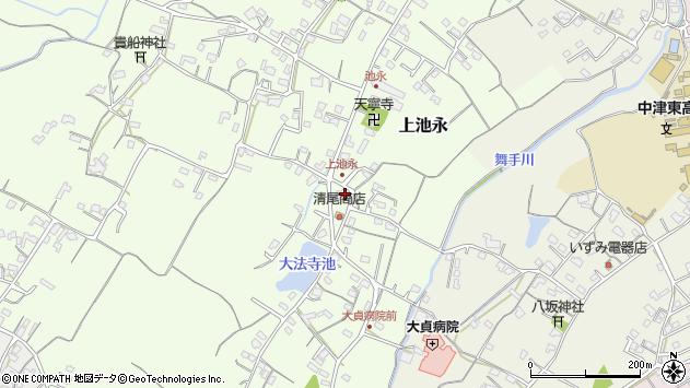 大分県中津市上池永447周辺の地図