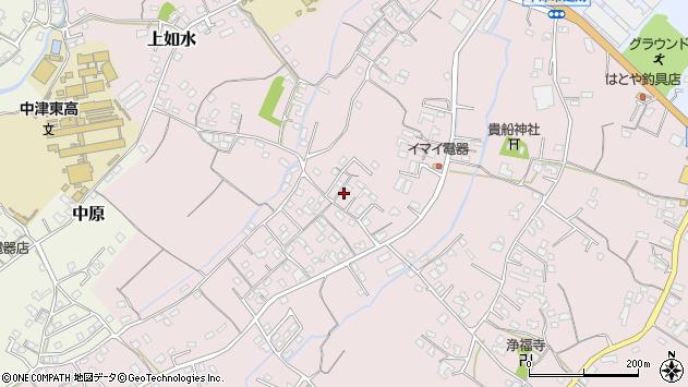 大分県中津市上如水492周辺の地図