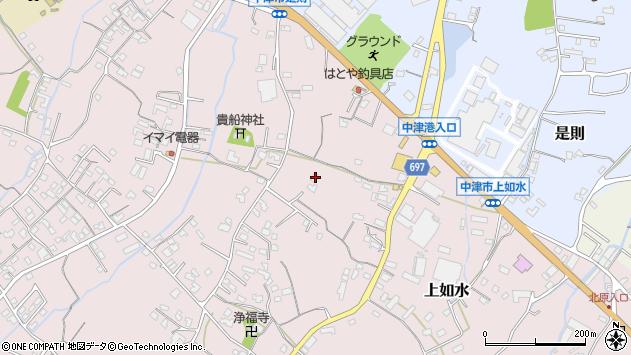 大分県中津市上如水1262周辺の地図