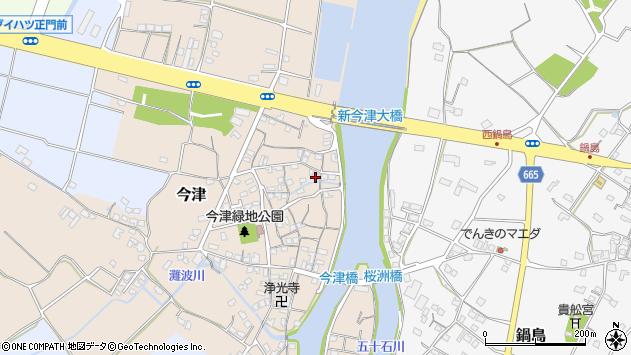 大分県中津市今津137周辺の地図