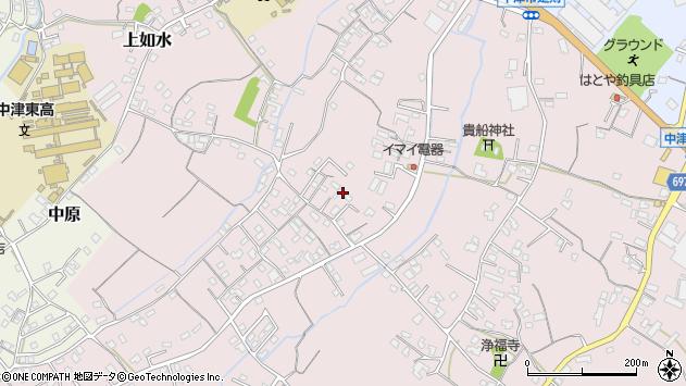 大分県中津市上如水488周辺の地図