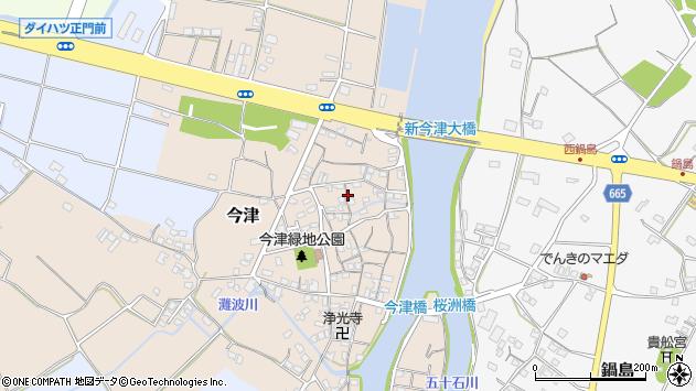 大分県中津市今津91周辺の地図