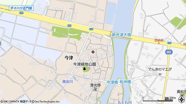 大分県中津市今津80周辺の地図