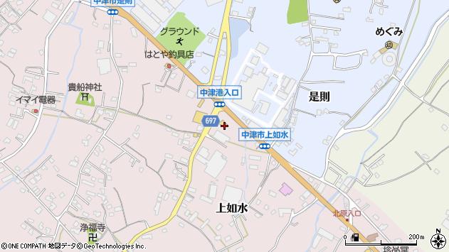 大分県中津市上如水1326周辺の地図