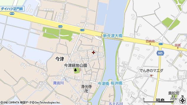 大分県中津市今津140周辺の地図