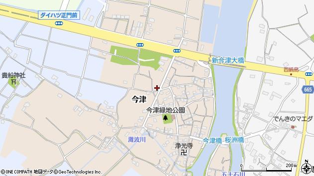 大分県中津市今津65周辺の地図