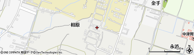 大分県中津市相原3843周辺の地図