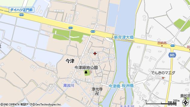 大分県中津市今津97周辺の地図