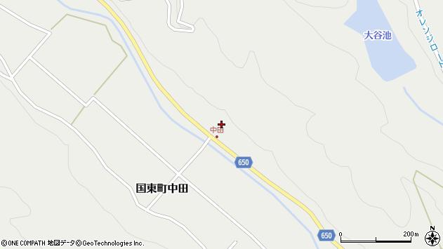 大分県国東市国東町中田2581周辺の地図