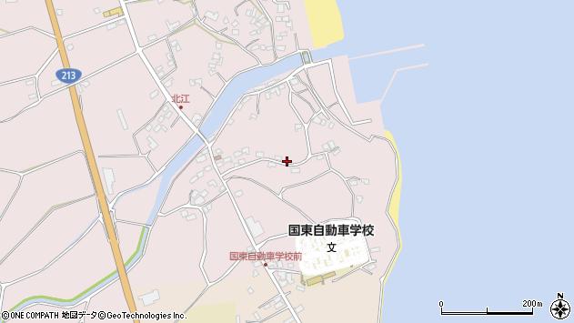 大分県国東市国東町北江4255周辺の地図