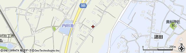 大分県中津市定留205周辺の地図