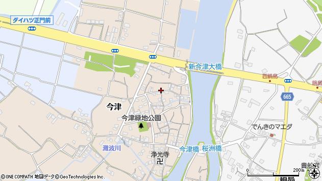 大分県中津市今津98周辺の地図