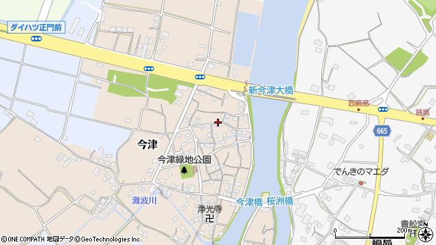 大分県中津市今津115周辺の地図
