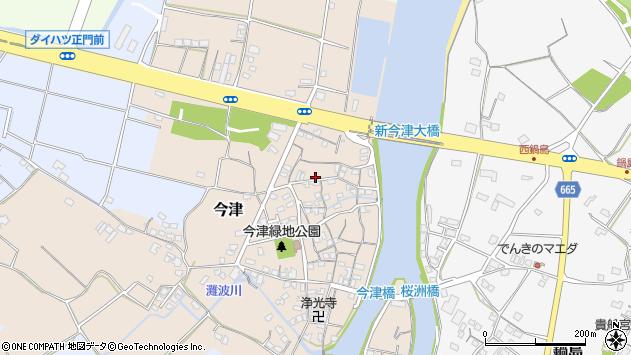 大分県中津市今津314周辺の地図