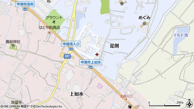 大分県中津市是則1136周辺の地図