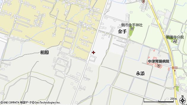 大分県中津市金手162周辺の地図