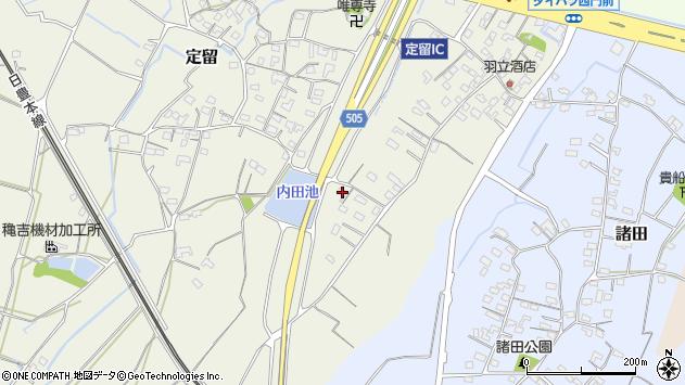大分県中津市定留180周辺の地図