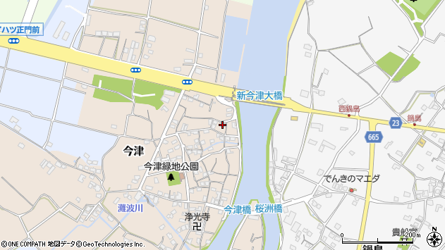 大分県中津市今津130周辺の地図